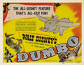 "Movie Posters:Animated, Dumbo (RKO, 1941). Title Lobby Card (11"" X 14""). Many sources from the Disney company claimed that this was Walt's favorite ..."