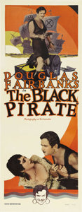 "Movie Posters:Adventure, The Black Pirate (United Artists, 1926). Insert (14"" X 36""). Fromthe silent era, one of the most spectacular action blockbu..."