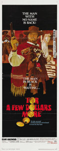 "Movie Posters:Western, For a Few Dollars More (United Artists, 1967). Insert (14"" X 36"").This was the second in Sergio Leone's ""Man with No Name"" ..."