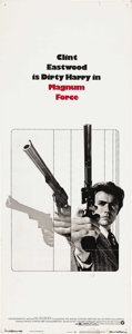 "Movie Posters:Action, Magnum Force (Warner Brothers, 1973). Insert (14"" X 36""). ""Nothingwrong with shooting as long as the right people get shot!..."