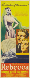 "Movie Posters:Hitchcock, Rebecca (United Artists, 1940). Insert (14"" X 36""). For his firstpicture made in the US, Alfred Hitchcock made a haunting d..."