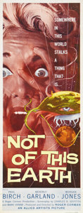 "Movie Posters:Science Fiction, Not of this Earth (Allied Artists, 1957). Insert (14"" X 36"").Produced and directed by Roger Corman, this very bloody sci-fi..."