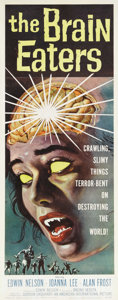 """Movie Posters:Horror, The Brain Eaters (American International, 1958). Insert (14"""" X 36""""). One of the best posters with truly gruesome graphics to..."""