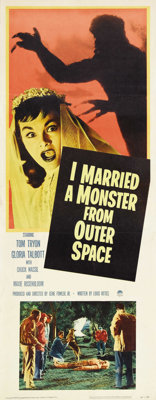 "I Married a Monster From Outer Space (Paramount, 1958). Insert (14"" X 36""). One of the better science-fiction..."