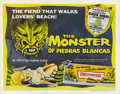 "Movie Posters:Horror, The Monster of Piedras Blancas (Film Service Distributing, 1959).Half Sheet (22"" X 28""). With something of a cult following..."