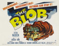 "Movie Posters:Science Fiction, The Blob (Paramount, 1958). Half Sheet (22"" X 28""). Shot in variouslocations throughout Chester County, Pennsylvania, this ..."