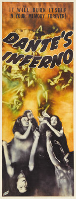 "Dante's Inferno (Fox, 1935). Insert (14"" X 36""). Visions of hell fill this poster for this tale based very loo..."