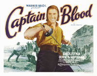 """Captain Blood (Warner Brothers, 1935). Half Sheet (22"""" X 28""""). Errol Flynn became a star with this glorious ad..."""
