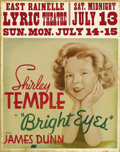 """Movie Posters:Comedy, Bright Eyes (Fox, 1934). Jumbo Window Card (22"""" X 28""""). ThoughShirley Temple is inarguably the main drawing card in this fi..."""