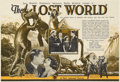 Movie Posters:Science Fiction, The Lost World (First National, 1925). Herald. Without WillisO'Brien's innovative stop-motion animation, this adaptation of...