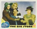 "Movie Posters:Comedy, The Big Store (MGM, 1941). Lobby Cards (3) (11"" X 14""). Groucho,Chico and Harpo Marx all ham it up in these three lobby car..."