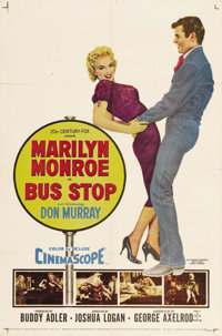 "Bus Stop (20th Century Fox, 1956). One Sheet (27"" X 41""). Director Joshua Logan provided Marilyn Monroe with w..."