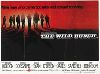 "The Wild Bunch (Warner Brothers, R-1970s). British Quad (30"" X 40""). This British quad has light edge wear wit..."