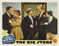 "Movie Posters:Comedy, The Big Store (MGM, 1941). Lobby Cards (3) (11"" X 14""). Groucho,Chico and Harpo Marx appear on two of these lobbies while o..."