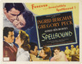 "Movie Posters:Hitchcock, Spellbound (United Artists, 1945). Half Sheet (22"" X 28""). No otherdirector captured the ""psychological melodrama"" genre as..."