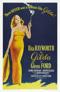"Movie Posters:Film Noir, Gilda (Columbia, R-1959). One Sheet (27"" X 41""). Probably thepinnacle performance of her career as a movie star, Rita Haywo..."