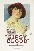 "Movie Posters:Drama, Gipsy Blood (First National, 1921). One Sheet (27"" X 41""). TheErnst Lubitsch/Pola Negri version of Prosper Merimee's ""Carme..."