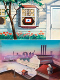 Animation Art:Painted cel background, My Boy Johnny Painted Backgrounds Gr...