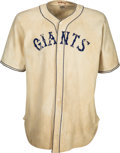Baseball Collectibles:Uniforms, 1939 Bill Terry Game Worn New York Giants Jersey--The Only Known Terry Gamer!...