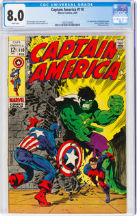 Captain America #110 (Marvel, 1969) CGC VF 8.0 White pages
