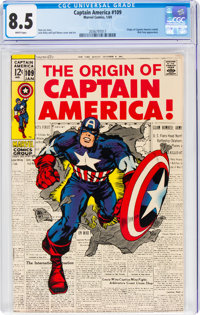 Captain America #109 (Marvel, 1969) CGC VF+ 8.5 White pages
