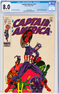 Captain America #111 (Marvel, 1969) CGC VF 8.0 Off-white to white pages