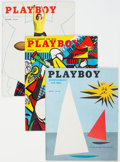 Magazines:Miscellaneous, Playboy August through December 1954 Group of 5 (HMH Publishing, 1954) Condition: Average VG/FN.... (Total: 5 Items)
