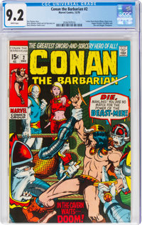 Conan the Barbarian #2 (Marvel, 1970) CGC NM- 9.2 White pages