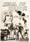 Original Comic Art:Miscellaneous, Wally Wood With the U.S. Paratroops Behind Enemy Lines #1 Cover Preliminary Original Art and Cover Proof (Avon, 19... (Total: 2 Items)