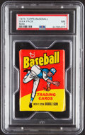 Baseball Cards:Unopened Packs/Display Boxes, 1975 Topps Mini Wax Pack PSA NM 7....