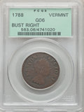 1788 Vermont Copper, Bust Right, Good 6 PCGS. PCGS Population: (11/233). NGC Census: (7/163). ...(PCGS# 563)