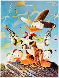 Carl Barks Sheriff of Bullet Valley Signed Limited Edition AP Lithograph #10/30 (Edition 313, 1995)