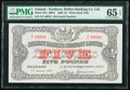World Currency, Northern Ireland Belfast Banking Company Limited 5 Pounds 6.1.1966 Pick 127c PMG Gem Uncirculated 65 EPQ.. ...