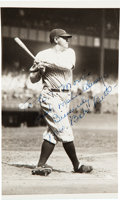 Baseball Collectibles:Photos, 1920's Babe Ruth & Signed by His Wife Original News Service Photograph, PSA/DNA Type 1 -- Image Used for 1928-29 R315 ...