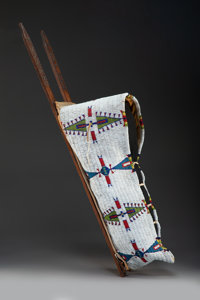 A Cheyenne Beaded Hide Baby Carrier