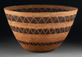 American Indian Art:Baskets, A Large Yokuts Coiled Bowl c. 1900 sedg...