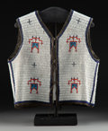 American Indian Art:Beadwork and Quillwork, A Sioux Man's Beaded Hide Vest c. 1900 ...