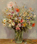 Paintings, Marcel Dyf (French, 1899-1985). Fleurs du jardin, 1972. Oil on canvas. 21-3/4 x 18-1/4 inches (55.2 x 46.4 cm). Signed l...