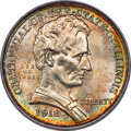 1918 50C Lincoln MS65 PCGS. CAC. An impressively sharp, Gem example of this early classic commemorative half dollar, sho...
