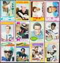 Football Cards:Lots, 1970-78 Topps Football Collection (62) With Stars & HoFers.. ...