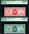 World Currency, Trinidad And Tobago Central Bank of Trinidad and Tobago 1; 5; 10; 20 Dollars 1964 (1977) Pick 30as; 31as; 32s; 33s Four Spec... (Total: 4 notes)