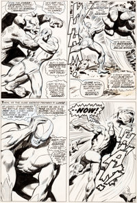 John Buscema and George Roussos (as Geo. Bell) Avengers #41 Story Page 15 Goliath Original A