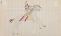 American Indian Art:Photographs, A Plains Ledger Drawing ...