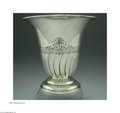 Silver Holloware, American:Vases, AN AMERICAN SILVER VASE