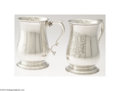 Silver Holloware, American:Cups, S.Kirk & Son : A PAIR OF AMERICAN SILVER CANNS (Mark of S....(2 Items)