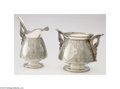Silver Holloware, American:Creamers and Sugars, Tiffany & Co.: AN AMERICAN SILVER PERSIAN PATTERN CREAMER ... (2 Items)