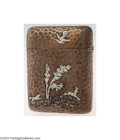Silver Smalls:Cigarette Cases, Gorham: AN AMERICAN MIXED METAL JAPANESE STYLE CHEROOT CASE (...