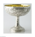 Silver & Vertu:Hollowware, S. Kirk & Son: A PARCEL GILT AMERICAN SILVER ARCHITECTURAL REPOUSSE PUNCH BOWL (Mark of S. Kirk & Son, Baltimore, Maryland) ...