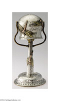 Silver Holloware, American:Other , William Rogers: AN AMERICAN SILVER MIXED METAL BOUDOIR LAMP (...