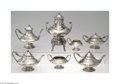 Silver & Vertu:Hollowware, Gorham: A SEVEN PIECE AMERICAN SILVER EGYPTIAN REVIVAL TEA SERVICE (Mark of Gorham, Providence, Rhode Island) . Mark of Gorh... (Total: 7 Items Item)